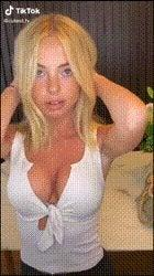 Cute petite blonde with big bolt-ons. (NSFW) – Naked TikTok Sex